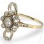 Anillo Art Decó de Oro, Platino, Zafiros y Diamantes