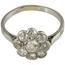 Anillo Años 20 de Platino y Diamantes