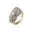 Anillo Años 30 de Platino, Oro y Diamantes