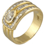 Sortija Tipo Cinturón Vintage Años 70 de Oro y Diamantes