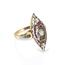 Anillo Art Decó de Oro, Diamantes y Rubís