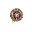 Anillo Art Decó de Oro, Diamantes y Piedras de Color