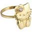 Anillo Hello Kitty de Oro y Piedra de Color