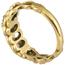 Anillo Antiguo Tipo Cinquillo de Oro y Diamantes