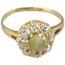 Anillo Principios Siglo XX de Oro, Crisoberilo Efecto Ojo de Gato y Diamantes