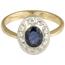 Anillo Vintage de Oro, Zafiro y Diamantes
