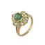 Sortija Vintage de Oro, Esmeralda y Brillantes