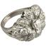Anillo Retro Años 30 de Platino y Diamantes