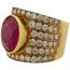 Anillo Vintage de Oro, Rubí y Diamantes