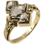 Anillo Finales Siglo XIX de Oro, Esmaltes y Diamantes