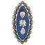 Anillo Siglo XVIII de Oro, Plata, Diamantes y Esmaltes