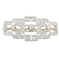 Broche Art Decó de Oro, Oro Blanco y Diamantes