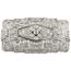 Broche Art Decó de Oro Blanco y Diamantes