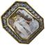Broche Colgante de Oro, Camafeo y Piedra Azul
