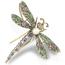 Broche Colgante Victoriano Siglo XIX de Plata, Oro, Perla, Esmeraldas, Rubíes y Diamantes