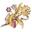 Broche Chevalier de Oro y Diamantes