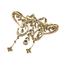 Broche Modernista de Oro y Diamantes