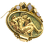 Broche Neoclásico de Oro, Esmalte y Ágatas