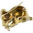 Broche Vintage de Oro, Esmalte, Rubí y Diamante