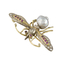Broche Insecto de Oro, Plata, Brillantes, Rubíes y Perla