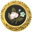 Broche Siglo XIX de Oro y Micromosaico