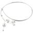 Collar Kailis Comet Lariat de Oro Blanco, Brillantes y Perlas Australianas