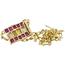 Collar y Colgante de Oro y Piedras de Color