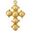 Cruz Latina Siglo XVIII de Oro y Granates
