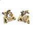 Doble Clip Años 40 de Oro, Diamantes y Piedras de Color