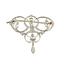 Gargantilla Broche Belle Époque de Oro, Platino y Diamantes