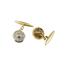 Gemelos Art Decó de Oro, Platino y Diamantes