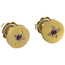 Pendientes Antiguos de Oro, Diamantes y Rubíes