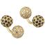 Gemelos Vintage de Oro, Zafiros y Brillantes