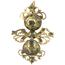 Pendientes Siglo XVIII de Oro y Esmeraldas