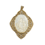 Medala Virgen del Carmen Principios Siglo XX de Oro, Nácar y Diamantes