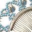 Peineta Siglo XIX de Metal y Piedras de Color