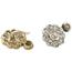 Pendientes Art Decó de Oro, Platino y Brillantes