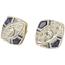 Pendientes Art Decó de Oro, Diamantes y Piedras de Color