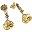 Pendientes Art Nouveau de Oro y Diamantes