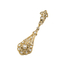 Pendientes Años 20 de Oro y Diamantes