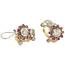 Pendientes Chevalier de Oro, Platino, Diamantes y Piedras de Color