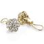 Pendientes Vintage de Oro Blanco, Oro Amarillo y Diamantes