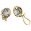 Pendientes Vintage de Oro, Platino, Brillantes y Piedras de Color