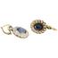 Pendientes Antiguos de Oro, Platino, Piedras de Color y Diamantes
