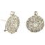 Pendientes Antiguos de Oro Blanco y Diamantes