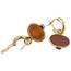 Pendientes Vintage de Oro, Carneolas y Crisoprasas