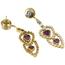 Pendientes de Oro, Diamantes y Piedras de Color