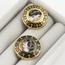 Pendientes Siglo XIX de Oro, Esmaltes y Diamantes