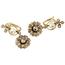 Pendientes Siglo XIX-XX de Oro, Perlas y Diamantes