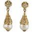 Pendientes Finales Siglo XIX de Oro, Perlas y Diamantes